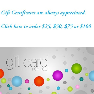 Gift Certificates for Sagebrush Designs by Shelli